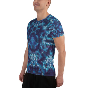 'Heavenly Host' All-Over Print Men's Athletic T-shirt (Slim Fit)