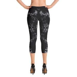 Gargoyle Guardian' B&W Capri Leggings