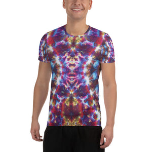 'Gargoyle Guardian' All-Over Print Men's Athletic T-shirt (Slim Fit)