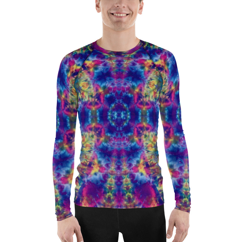 Ruby Timewarp' Men's Rash Guard