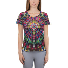 Load image into Gallery viewer, 'Celebration of Life' All-Over Print Women's Athletic T-shirt (Slim Fit)
