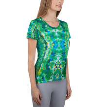 Load image into Gallery viewer, 'Emerald Isles' All-Over Print Women's Athletic T-shirt