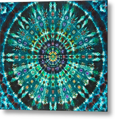 Peacock Throne Mandala - Metal Print