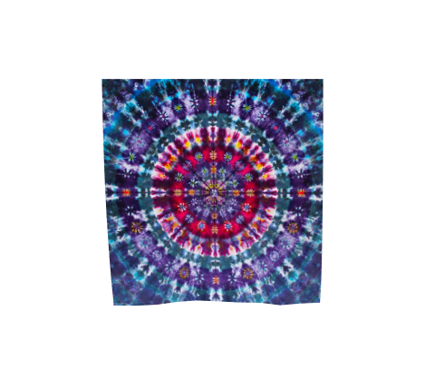 Mandala Scarf 100% Natural Silk #5991 - 'Neptune's Flower'