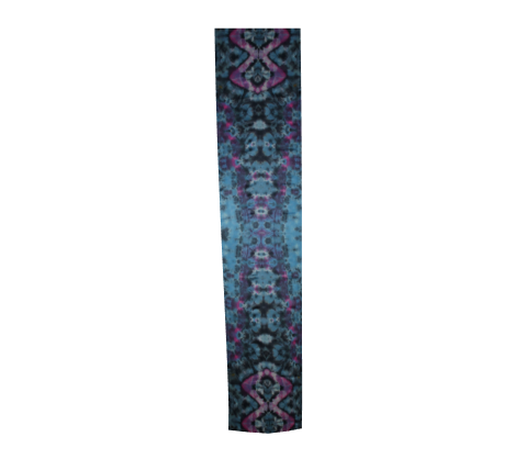 Long Scarf 100% Natural Silk #5742 - 'Psychadelic Python'