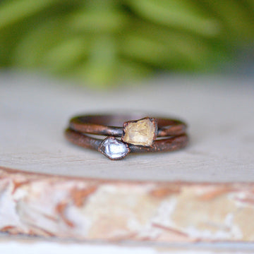 Citrine Herkimer Ring | Citrine Jewelry,Ringschock