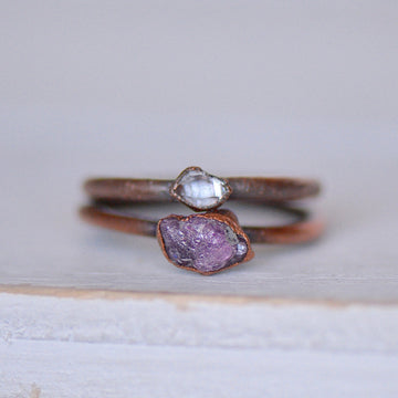 Ruby Diamond Rings | Raw Stone Jewelry,Ringschock