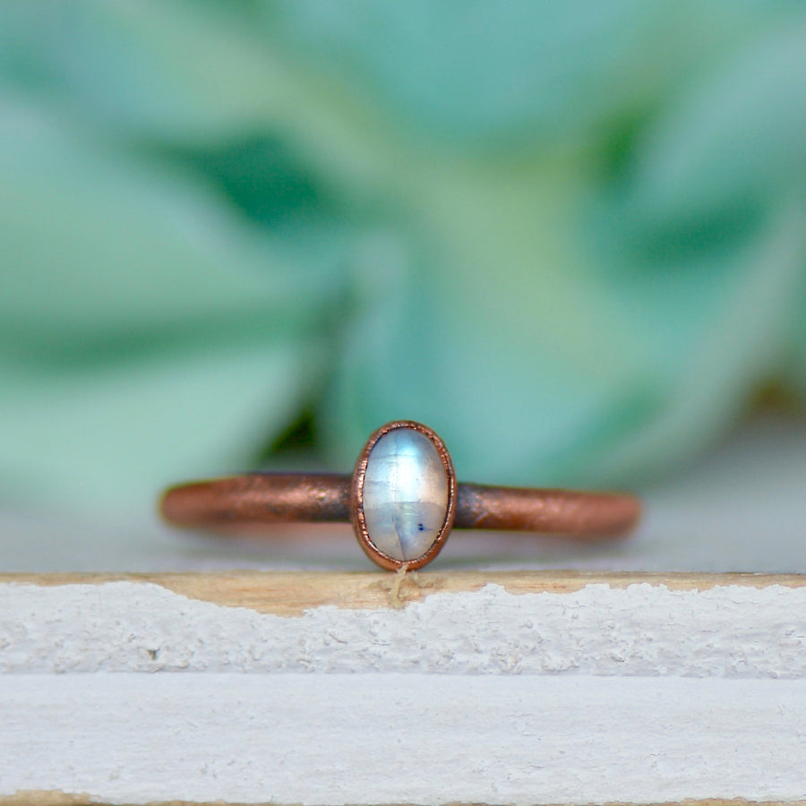 Moonstone Ring | Raw Stone Ring | Crystal RingRings - Ringschock