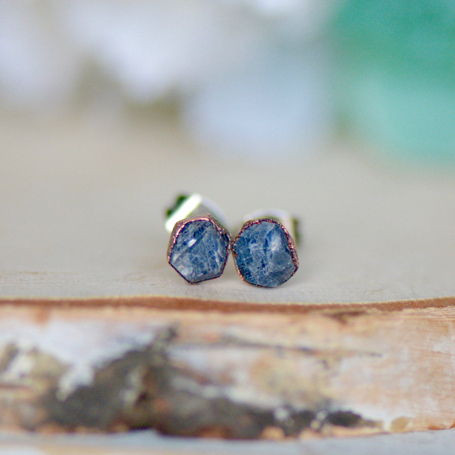 Raw Sapphire Earrings | Gemstone StudsEarrings - Ringschock