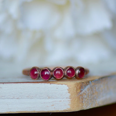 Garnet Ring | Eternity Ring,LUNAandLORES.