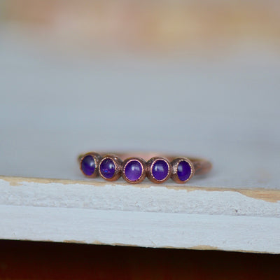 Multi Amethyst Ring,LUNAandLORES.