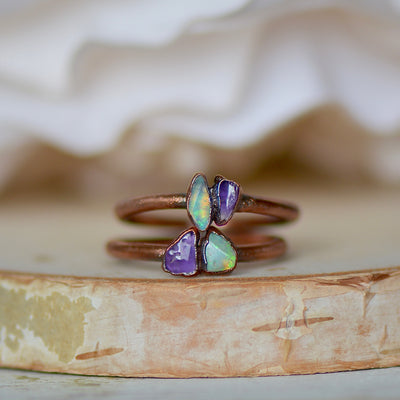 Opal Amethyst Ring,LUNAandLORES.