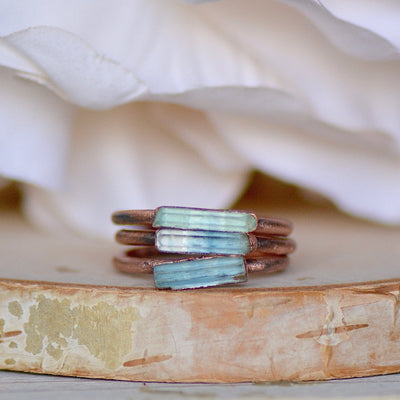 Aquamarine Bar Ring,LUNAandLORES.