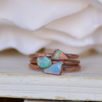 Australian Opal Ring,LUNAandLORES.