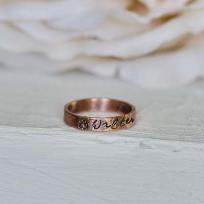 Personalized Ring, Special Name Ring, Stacking Ring, Boho Jewelry, Heirloom Ring, Copper Ring, Gift for Her, Bridal Gift Idea, Electroformed