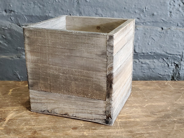 Wooden box pot cover
