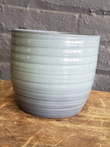 mint green ceramic pot