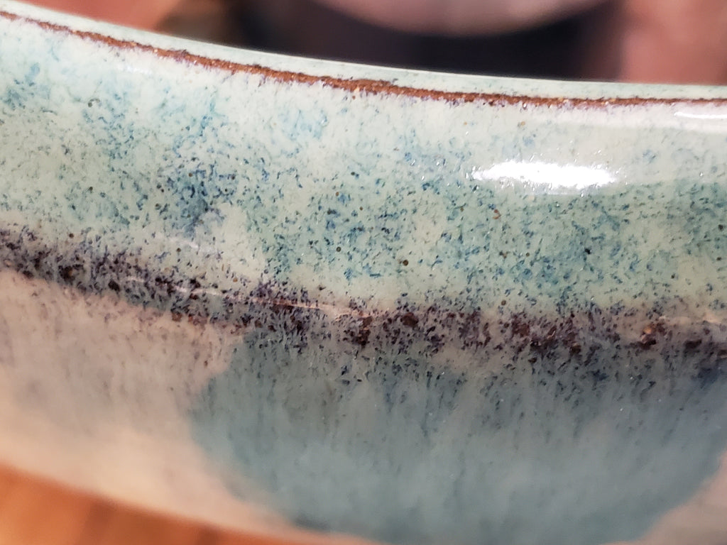 Barone Garden Planter glaze closeup