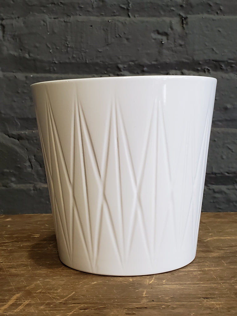 Visby ceramic pot white