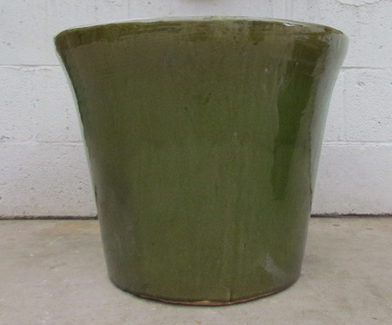 Delphine planter in olive green