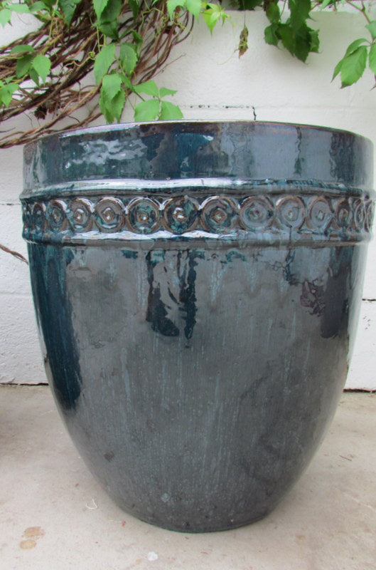 Borsa planter in blue