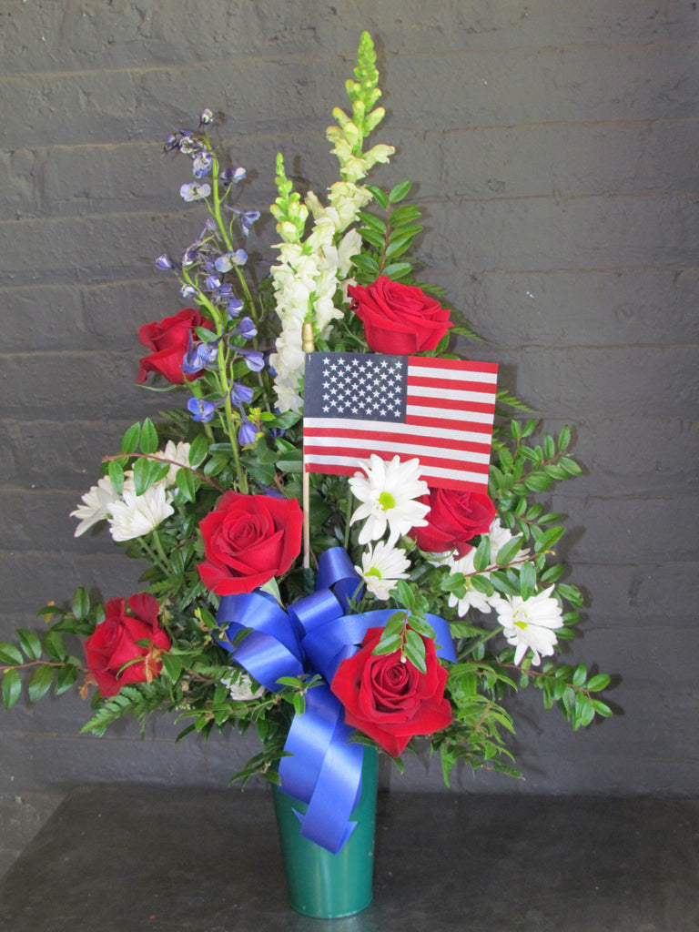 Patriotic floral tribute