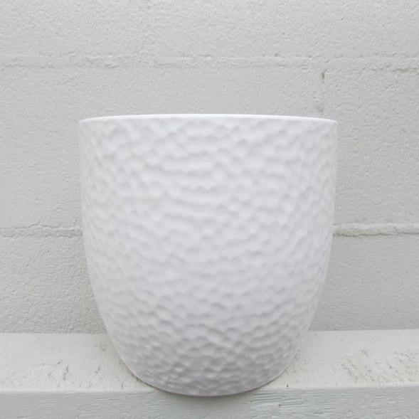 Boston ceramic pot white small