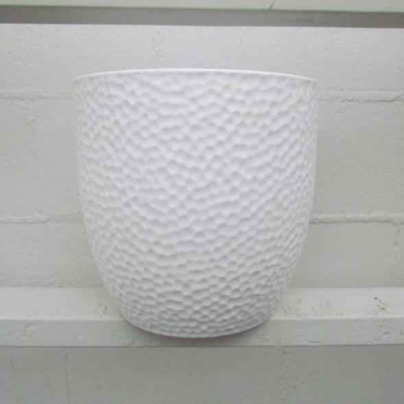 Boston ceramic pot white