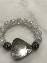 Load image into Gallery viewer, Pyrite center stone bracelet