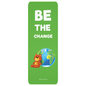 Be the Change Yoga Mat | Cute Yoga Mat for Kids | Fun Exercise Mat | Yoga Gift Idea