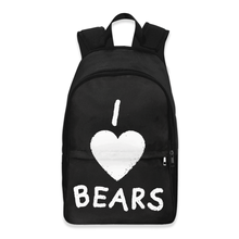 Load image into Gallery viewer, I Love Bears Backpack | Cute Backpack for Kids and Teens | Animal Inspired Backpack | Knapsack for Kids | Large Bookbag