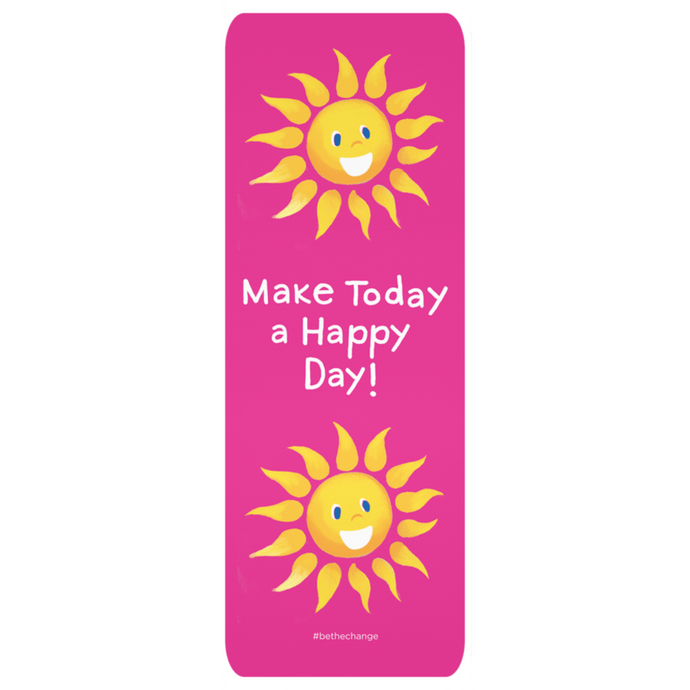 Make Today a Happy Day Yoga Mat | Fun Exercise Mat | Cute Yoga Mat for Kids | Yoga Gift Idea