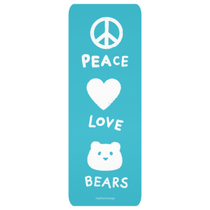 Peace, Love, Bears Yoga Mat