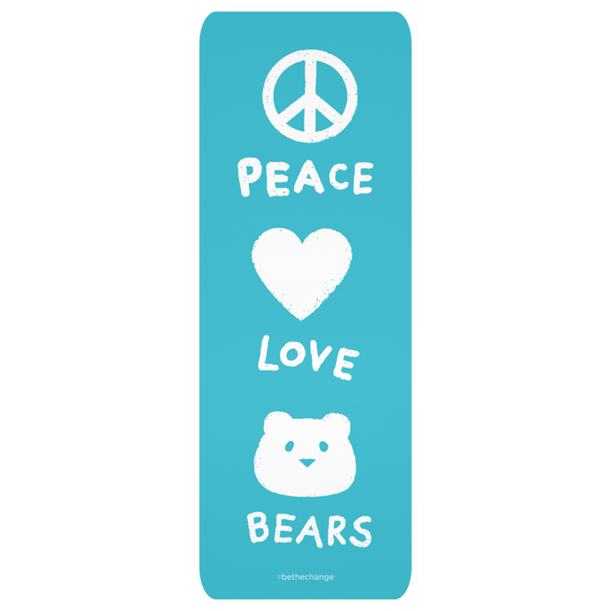 Peace Love Bears Yoga Mat | Cute Yoga Mat for Kids | Fun Exercise Mat | Yoga Gift Idea