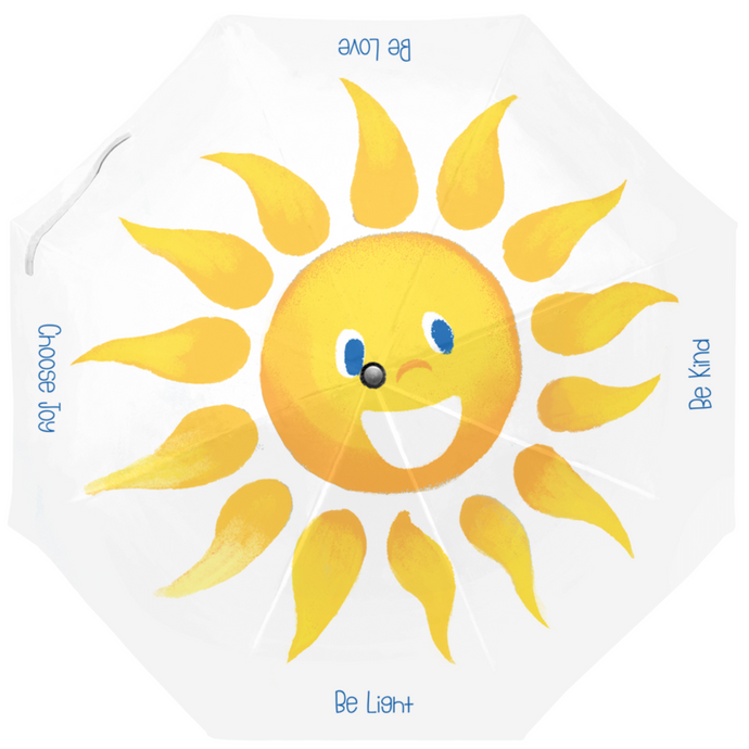 Sunny Days Umbrella | Cute, Cheerful Umbrella | Sunshine Face Umbrella