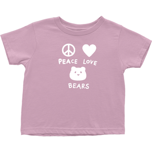 Peace, Love, Bears T-Shirt For Toddlers | T-Shirt For Bear Lovers | Inspired T-Shirt | Cute Toddler Clothing | Rabbit Skins Tee