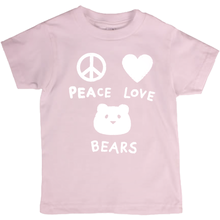 Load image into Gallery viewer, Peace Love Bears T-Shirt For Big Kids | Youth Unisex, Eco-Friendly T-Shirt | Children's Graphic Tee