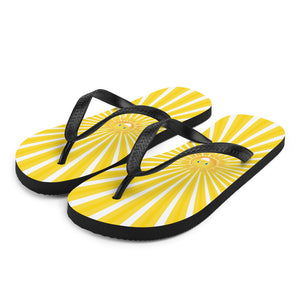 Walk on Sunshine Flip-Flops | Bright Yellow Flip Flops | Sunshine Thong Sandals
