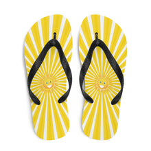Load image into Gallery viewer, Walk on Sunshine Flip-Flops | Bright Yellow Flip Flops | Sunshine Thong Sandals