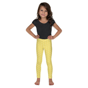 Honeycomb Print Kids Leggings for Toddlers
