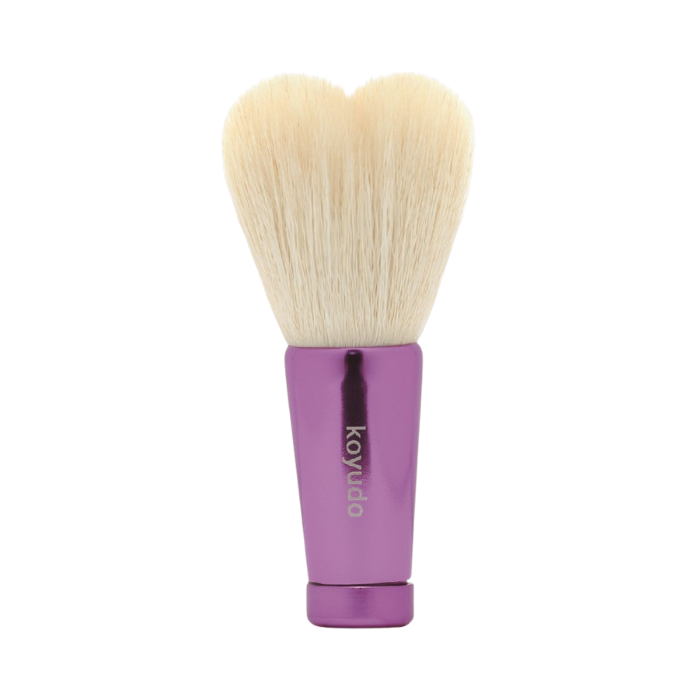 Koyudo HW-05 Heart-Shaped Face Wash Brush (White/Purple)