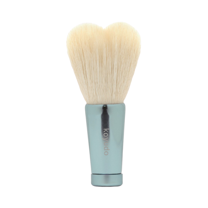 Koyudo HW-06 Heart-Shaped Face Wash Brush (White/Blue)