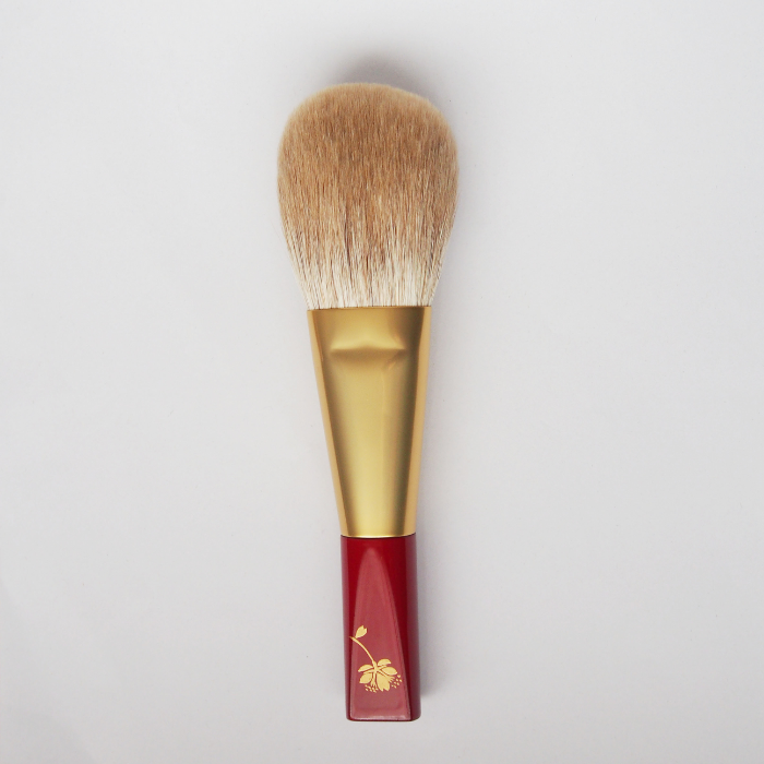 Koyudo Golden Fox Powder Brush, Sakura Design (Red)