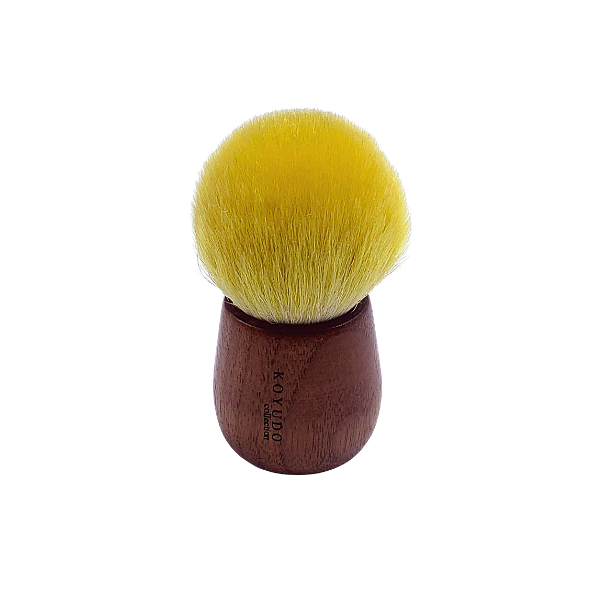 Koyudo Somell Garden Lemon x Walnut Foundation Brush, Kinomi Series
