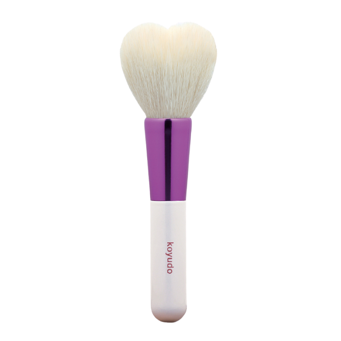 Koyudo H05 Heart-Shaped Cheek Brush (White/Purple)