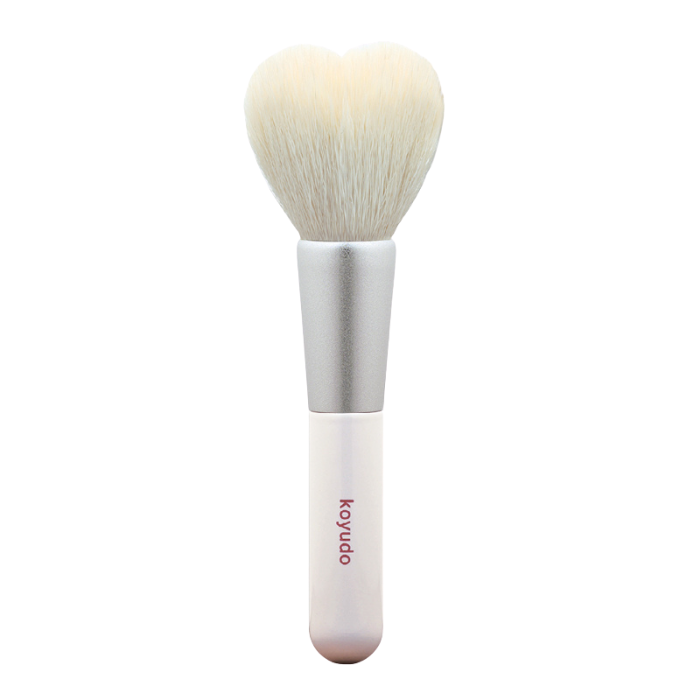 Koyudo H08 Heart-Shaped Cheek Brush (White/Silver)