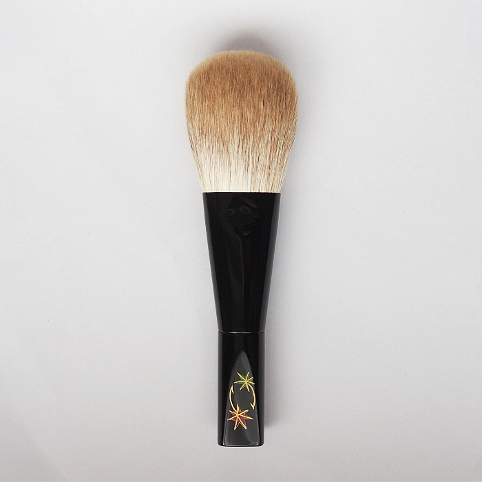 Koyudo Golden Fox Powder Brush, Momiji Design (Black)