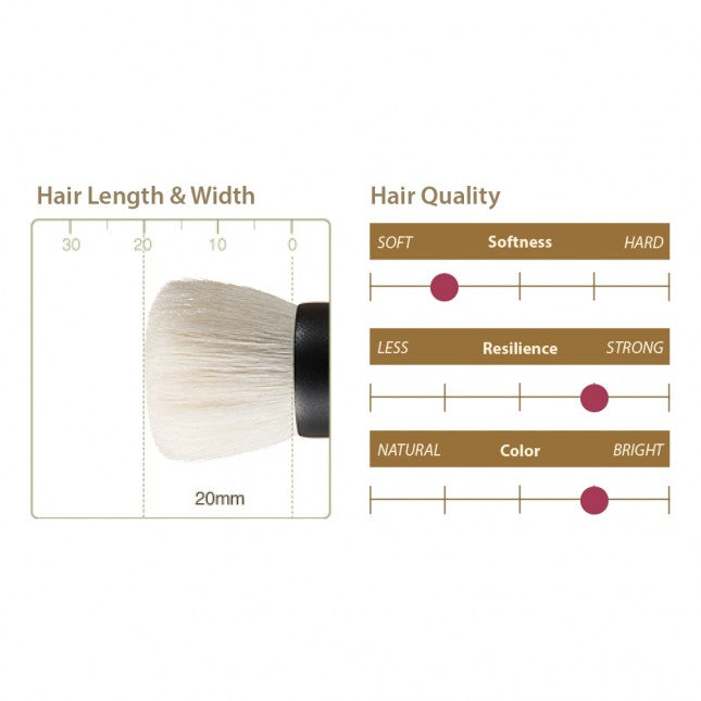 Chikuhodo T-3 Foundation Brush, Takumi Series-Fude Beauty