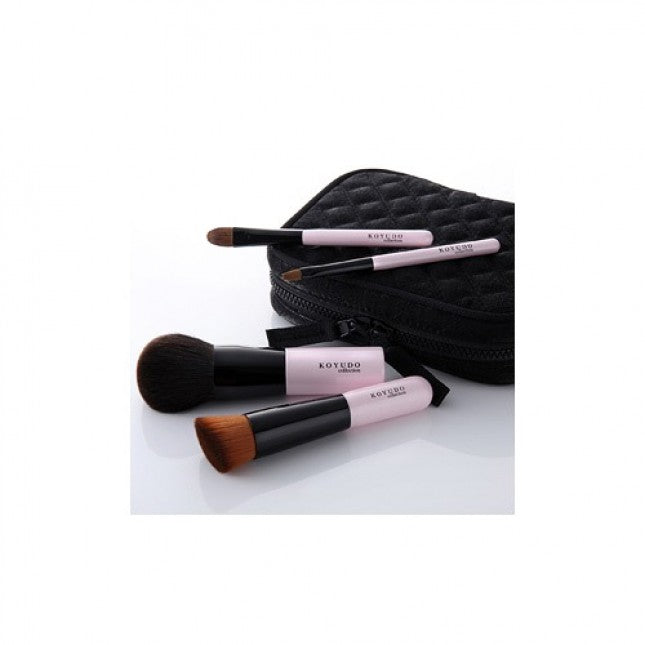 Koyudo Pure 4-Brush Set with Zippered Case