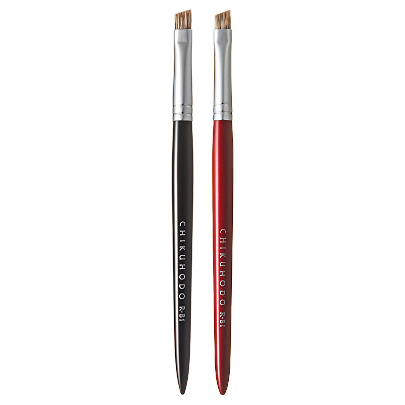 Chikuhodo Eyebrow Brush, Regular Series (R-B1 Black, RR-B1 Red)-Fude Beauty